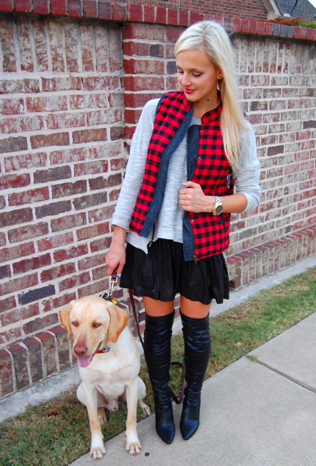 pitbull-awareness-plaid-vest-over-the-knee-boots-dog-blogger-lauren-vandiver-vandi-fair