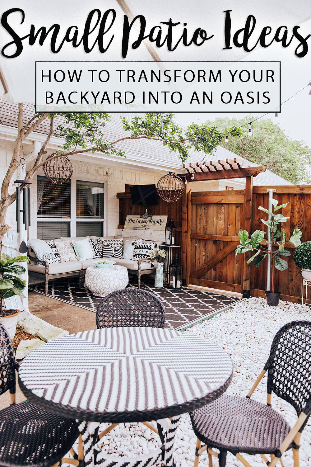 Our Back Porch Oasis + 10 Small Backyard Patio Ideas